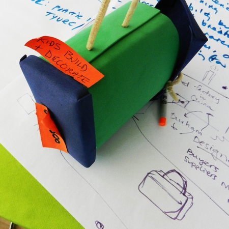 Park Day School teachers reconsidered the lunchbox experience and then came up with this prototype of an eco-friendly DIY lunchbox for kids.