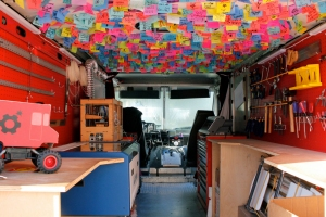 """Inside the Spark Truck"" by SparkTruck: http://www.flickr.com/photos/sparktruck/8347456258/"