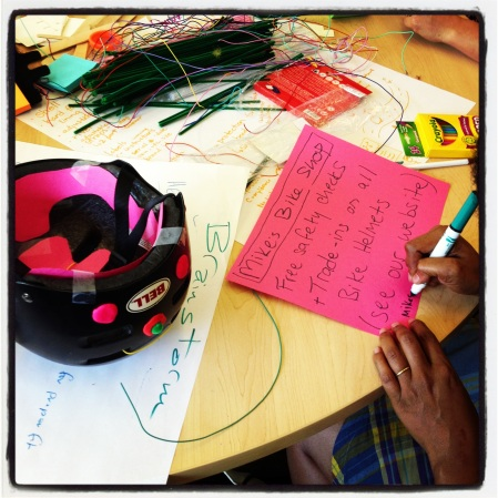 Redesigning bike helmets to alert users when its time to change the interior padding.