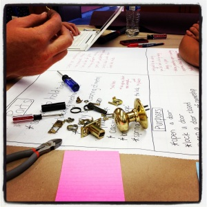 During a recent Agency by Design workshop session in California, teachers from the Oakland Learning Community used a variety of tools to take apart and tinker around with household mechanical devices.