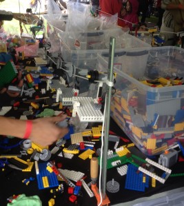 There were no lack of Legos at the MIT Mini Maker Faire!