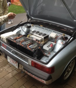 Check out the batteries on this beauty. The MIT Electrical Vehicle team shows off a 1976 Porsche 914 that they have converted into a battery operated vehicle.